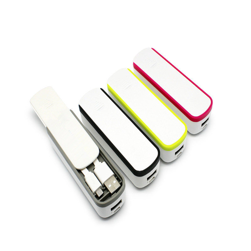 2017 Hot Selling Mini Power Bank with Storage Box Mobile Power Bank 2600mAh