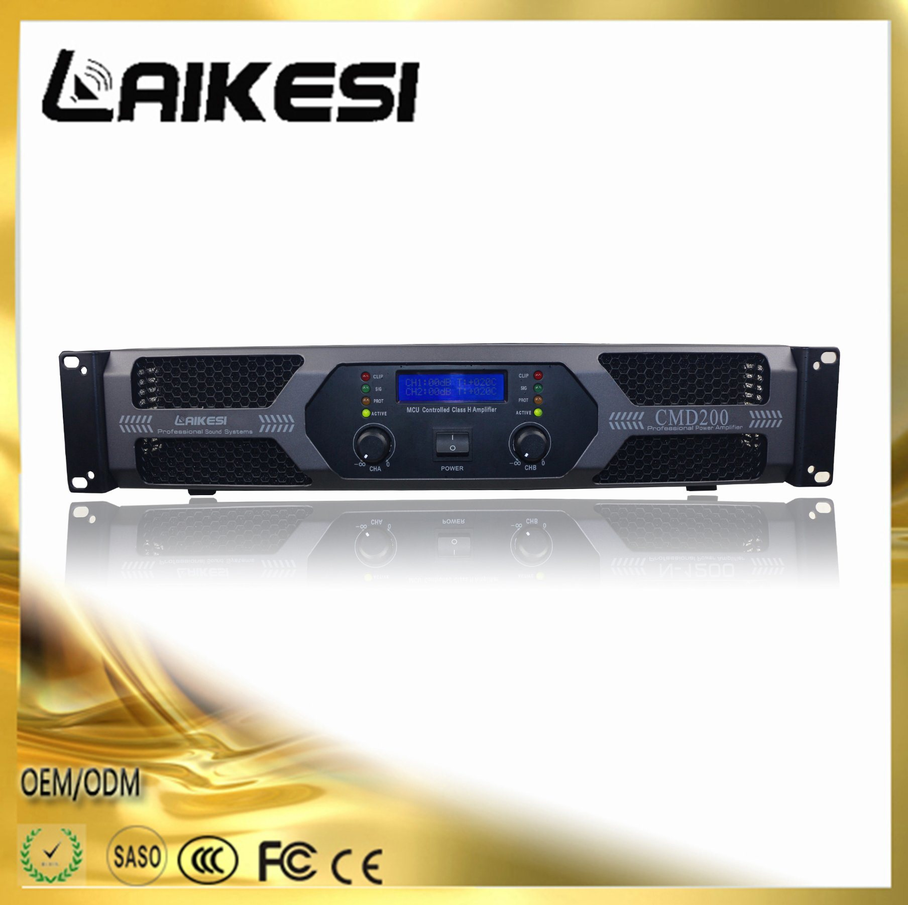 Cmd200 Stage Power Amplifier with Display