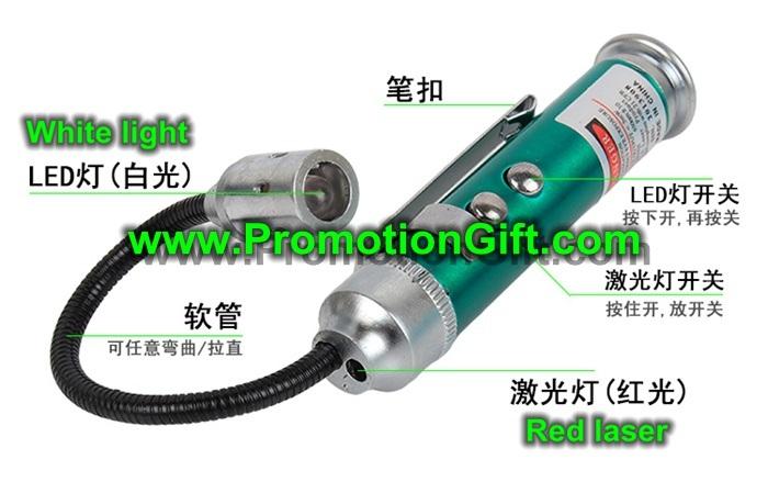 2 in 1 LED Flashlight Laser Pointer