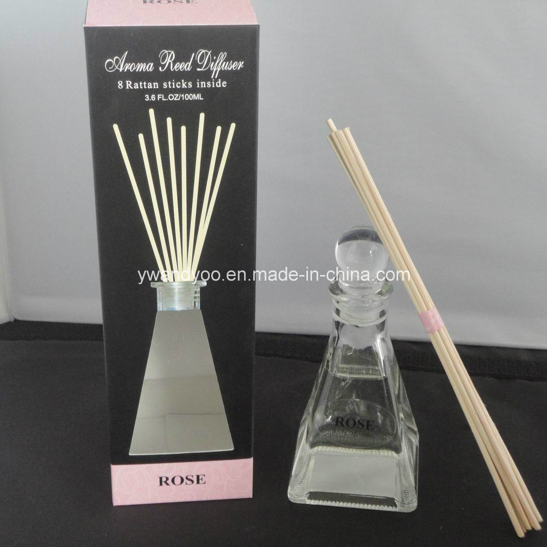 8 Rattan Sticks Decorative Rose Aroma Reed Diffuser