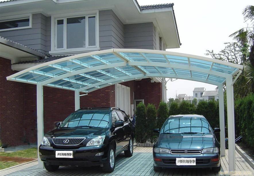 Modern Flat Roof Polycarbonate Carports