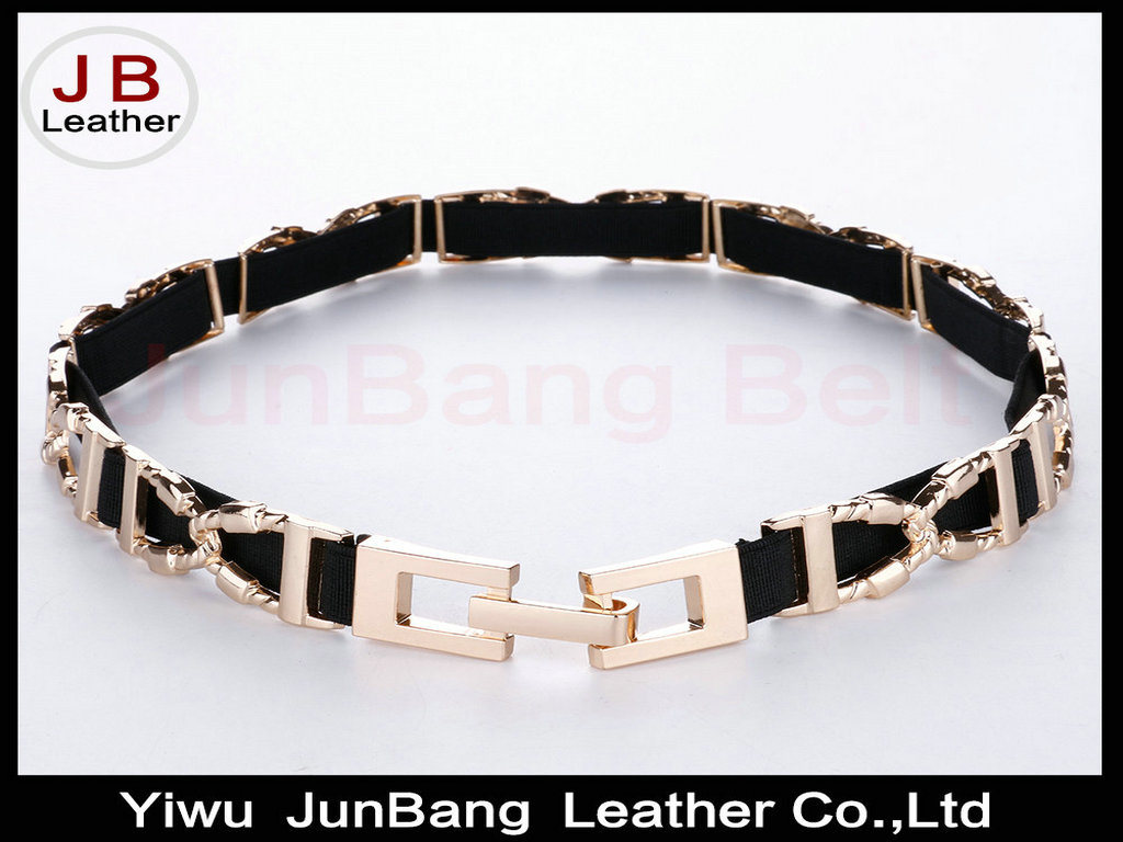 Latest Fashion Elastic Metal Belt in High Quality for Women