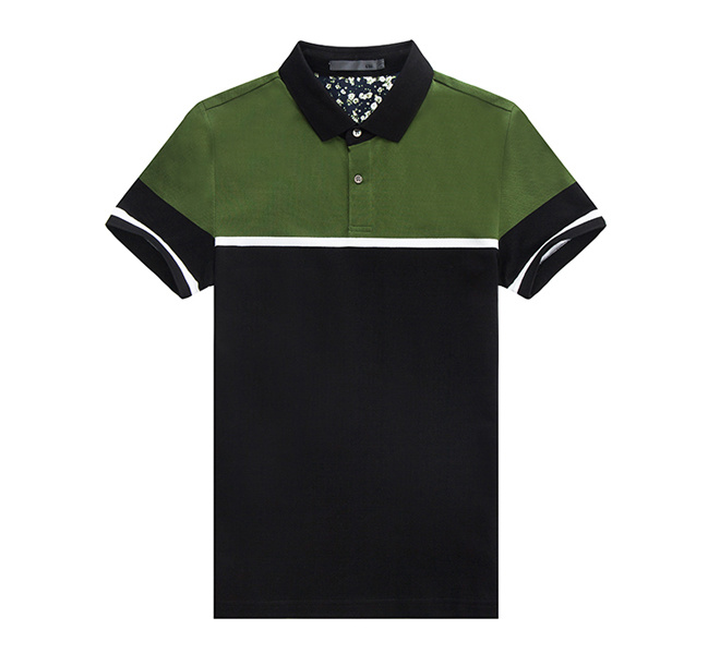 New Design High Quality Two Tone Men Polo Shirt