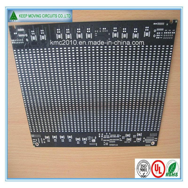 Fr4 2layer PCB Board Black Sodermask White Silkscreen Circuit Board