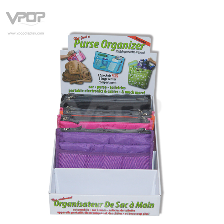 4 Tiers Cardboard Counter Top Display Transport Box for Bags