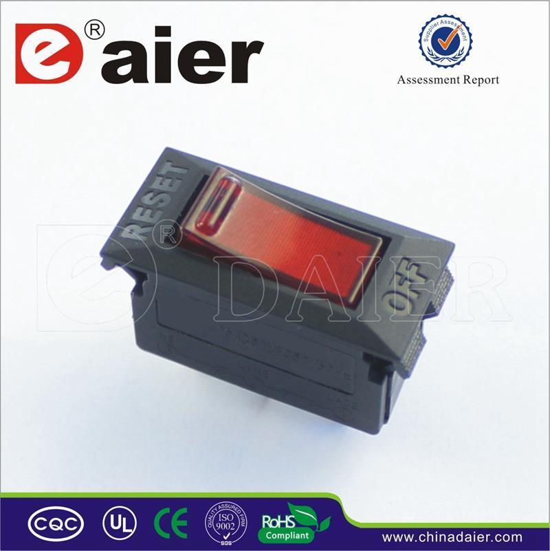 Rocker Switch Type 220VAC Illuminated Circuit Breaker