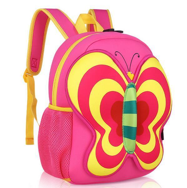 OEM Cute Butterfly Girl′s School Backpack Bags