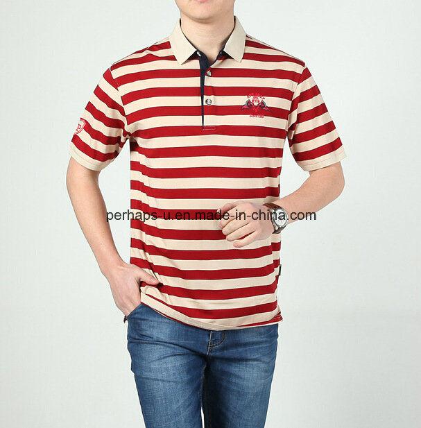 High Quality Skinny Striped Men Polo Shirt Sports Wear