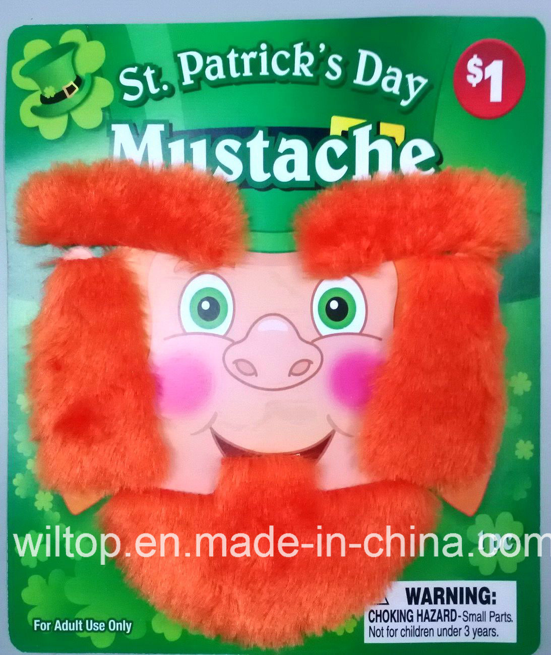 Plush St Patrick′s Day Beard&Moustache (BA001)