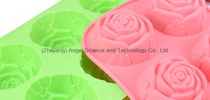 Hot Sale BPA Free Rose Silicone Baking Cake Tool Sc41
