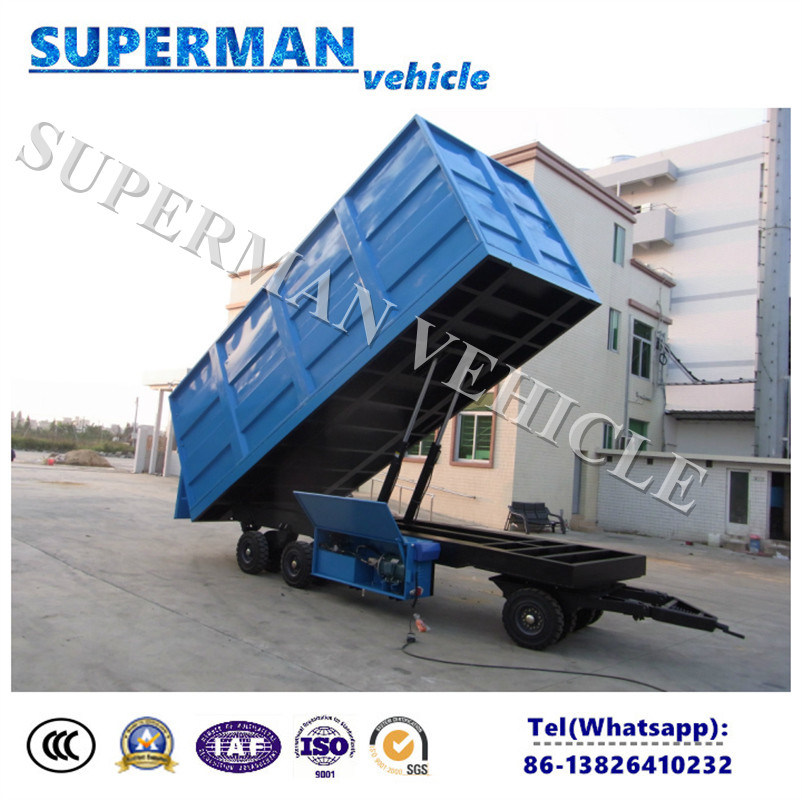 20t Agriculture Use Cargo Dump Trailer/ Tipping Trailer/Drawbar Trailer