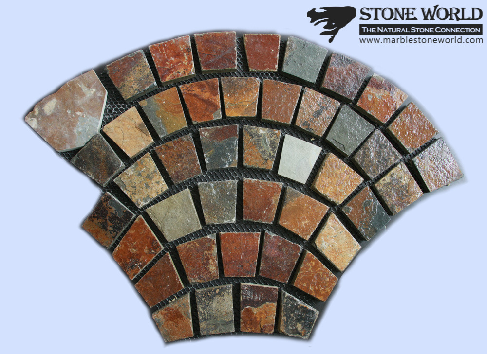 Rusty Brown Slate Tiles for Flooring& Paving & Landscape (CS-001)