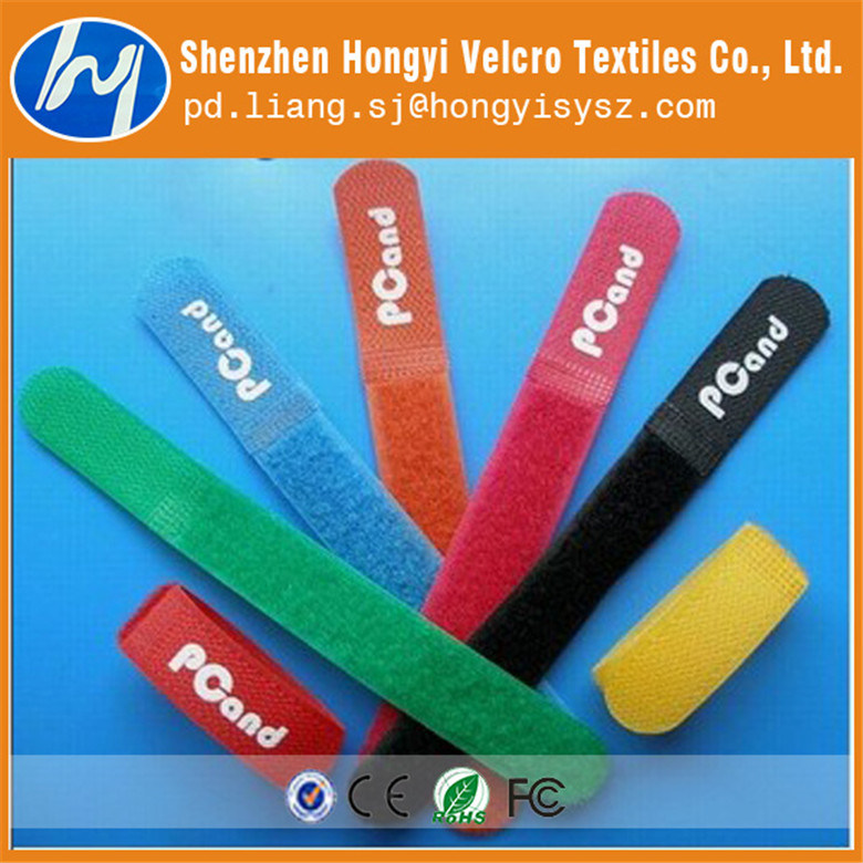 Dacron Colorful Soft-Hook & Loop Velcro Cable Tie