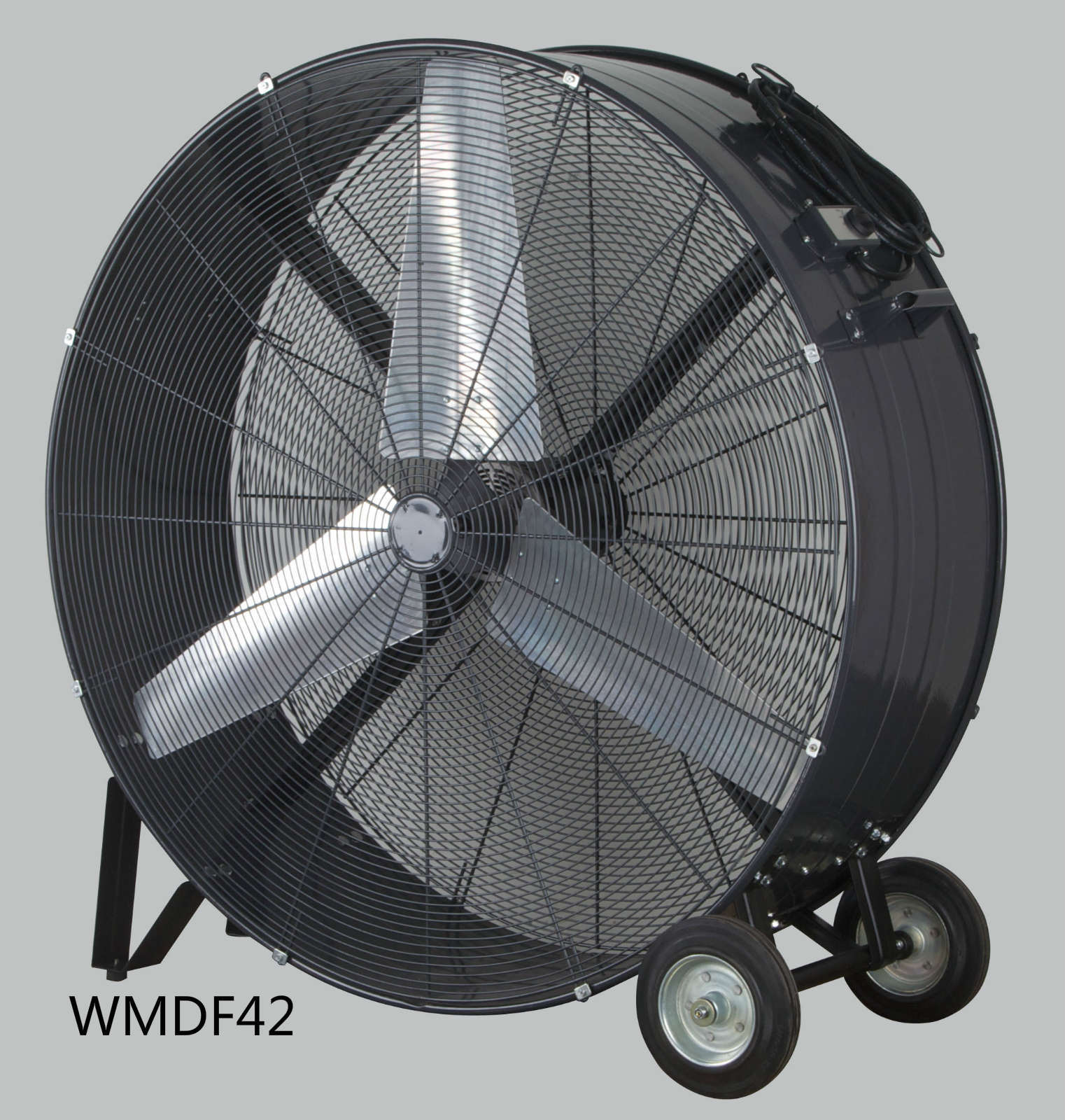 42 Inch Heavy-Duty Wheels and Carrying Handles Drum Fan High Volume Fan High Velocity Fan for Industrial & Commercial Use