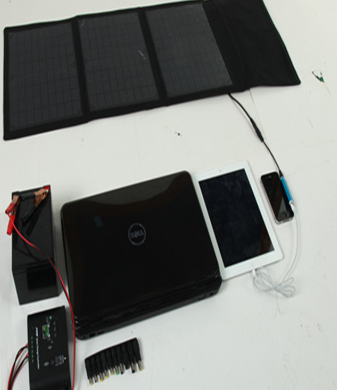 25W-30W Solar Charger with 3-6PCS Solar Panel for Mobile Phone
