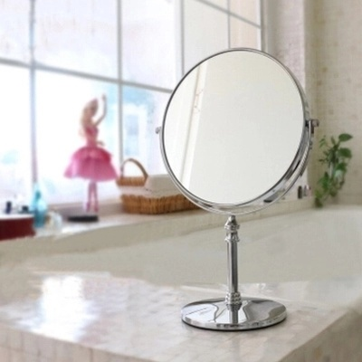 High Quality Stainless Steel Bathroom Stand up Travel Mirror (Q04)