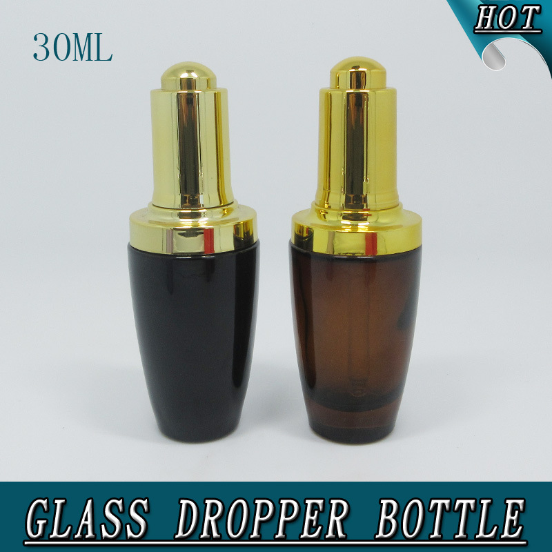 1oz 30ml Colorful Perfumes and Fragrances Press Pump Dropper Glass Bottle