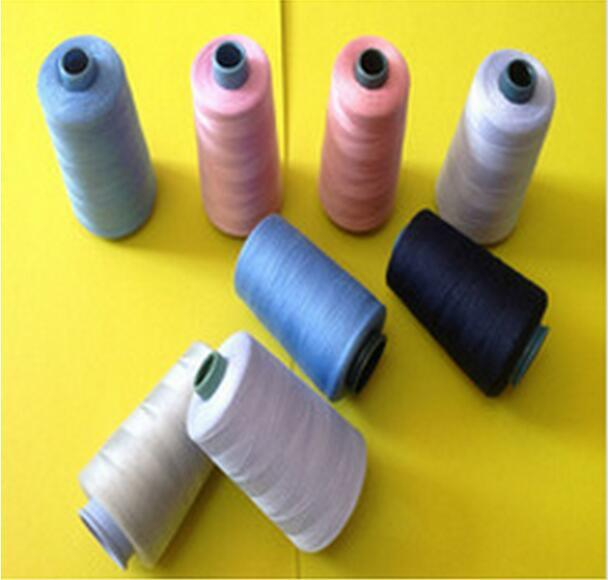 Ne 20/2 3000 Yards Per Cone 100% Spun Polyester Yarn