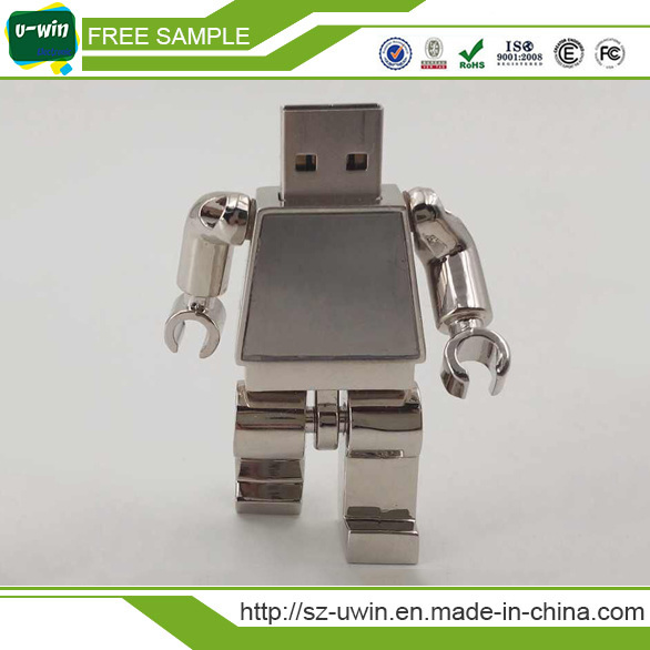 Free Sample Promotion Leather Metal USB Pen Drive