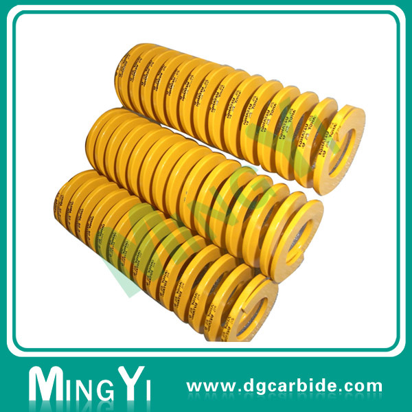 High Pressure Spring Mold Parts Yellow Red Green Compression Spring