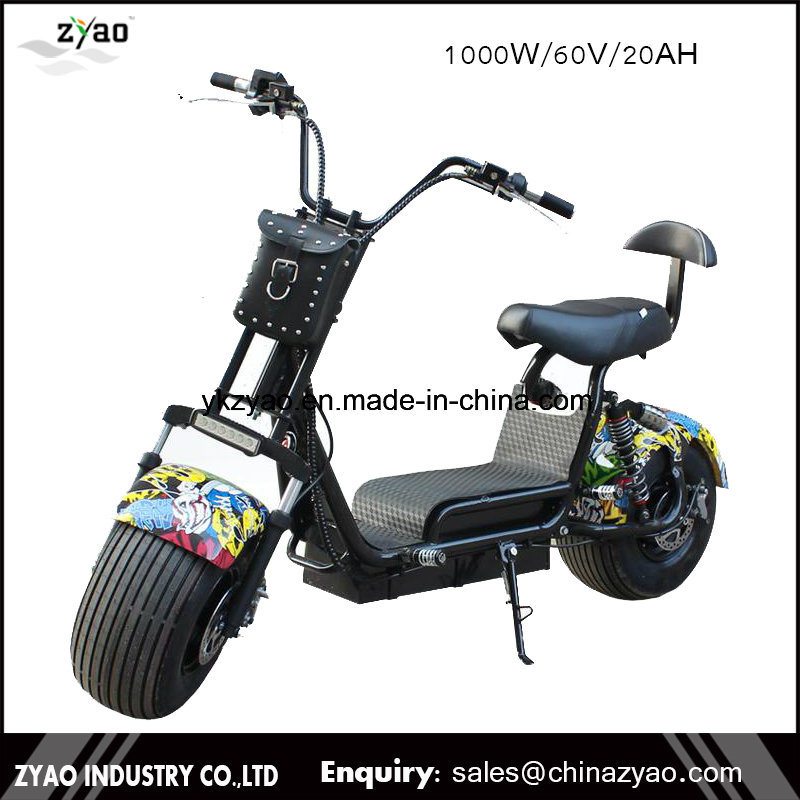 China Supplier 2017 The Most Popular Citycoco 1000W 9.5inch 2 Wheels Harley Electric Scooter