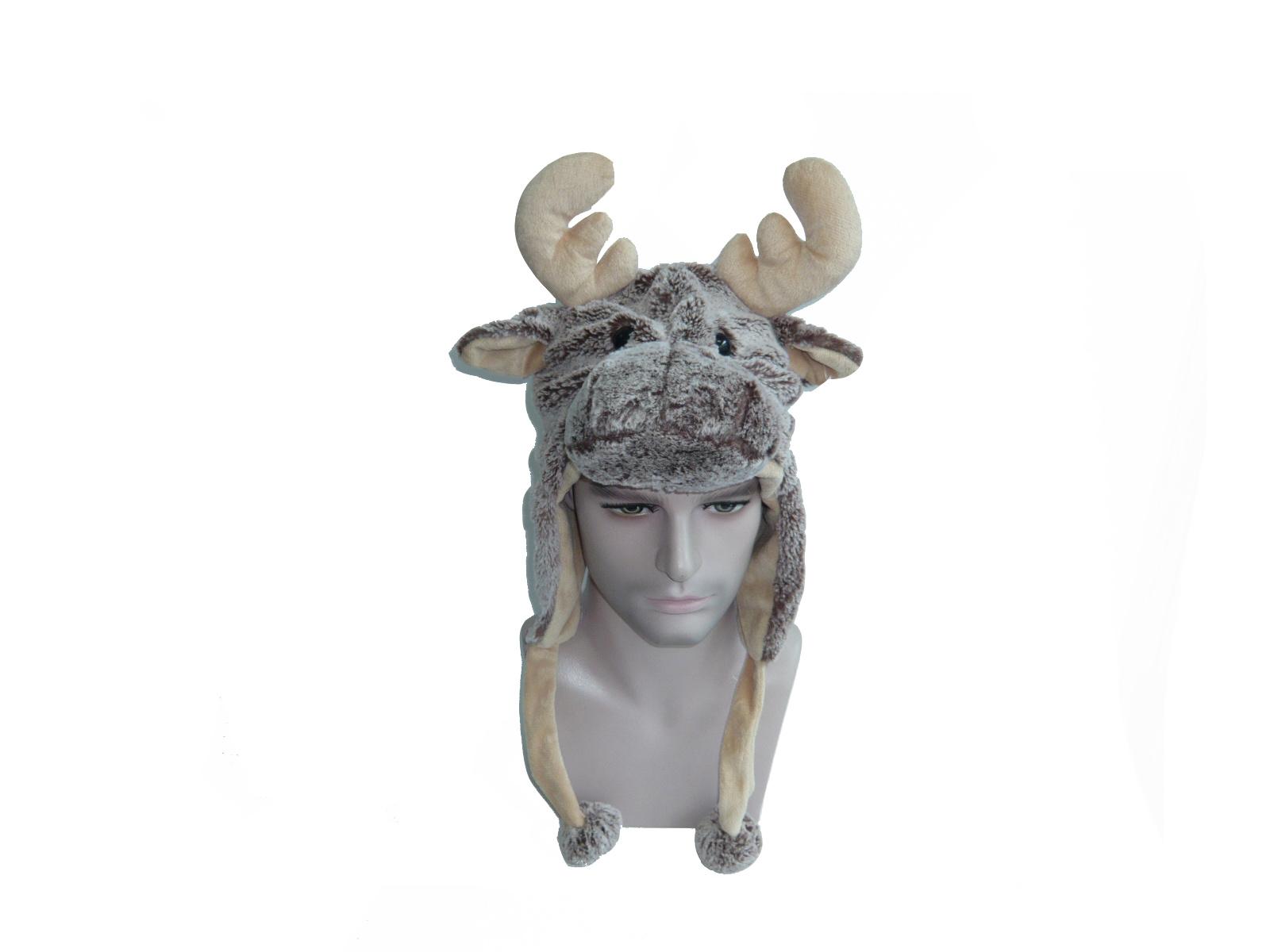 Short Soft Image Stuffed Plush Animal Hat