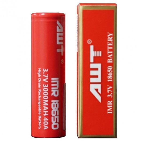 Awt (3000mAh/40A) 18650 Battery Li-ion Battery Rechargeable Battery