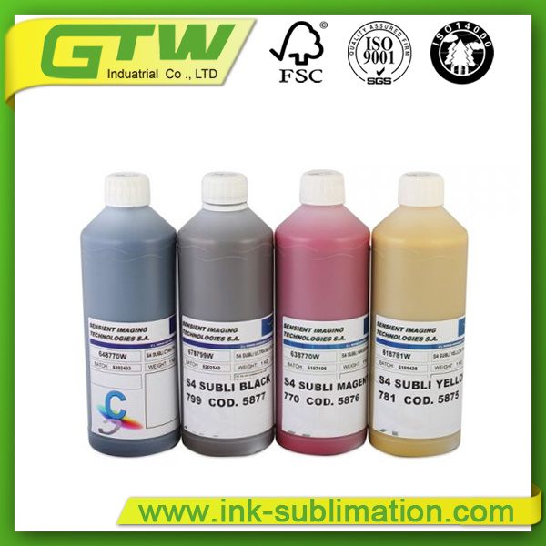 Four Color Sensient Elvajet Swift Dye Sublimation Ink for Inkjet Printer