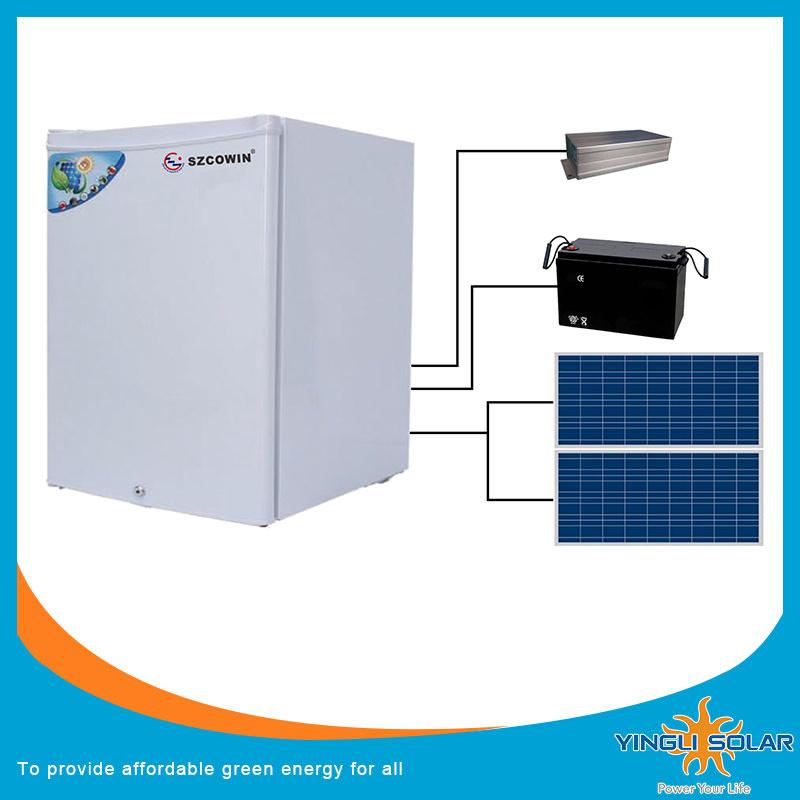 DC Power Solar Deep Refrigertator Freezer with Solar Panel