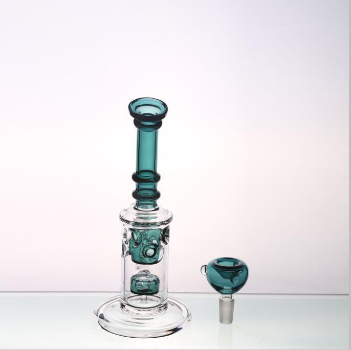 Hunter Green Glass pipes Oil Rigs Water Pipes Smoking Pipes