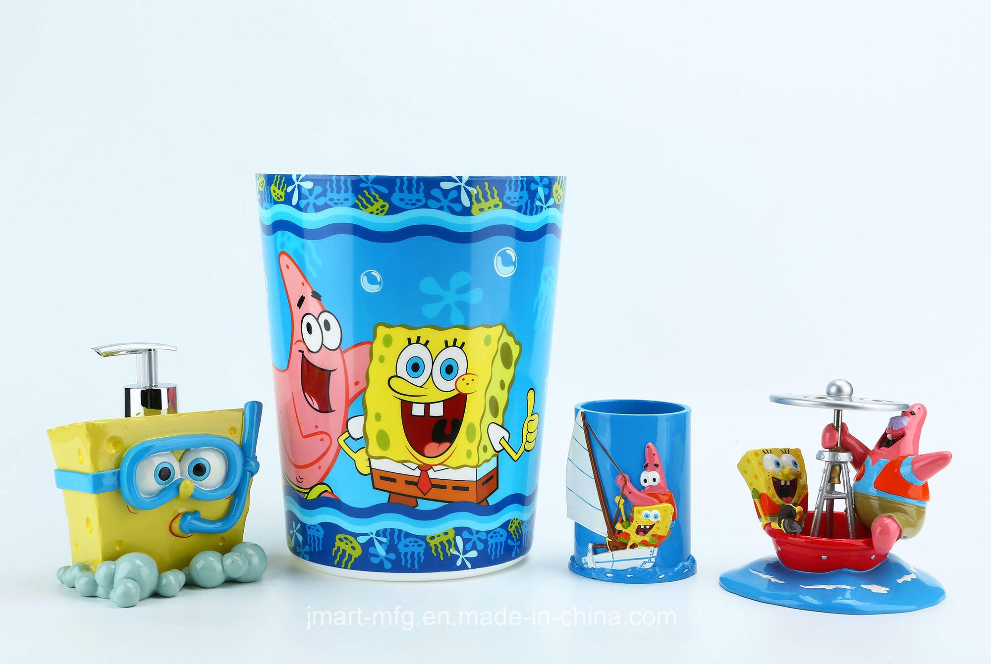 Hand Paint Spongebob Licensed Polyresin Bathroom Accessory