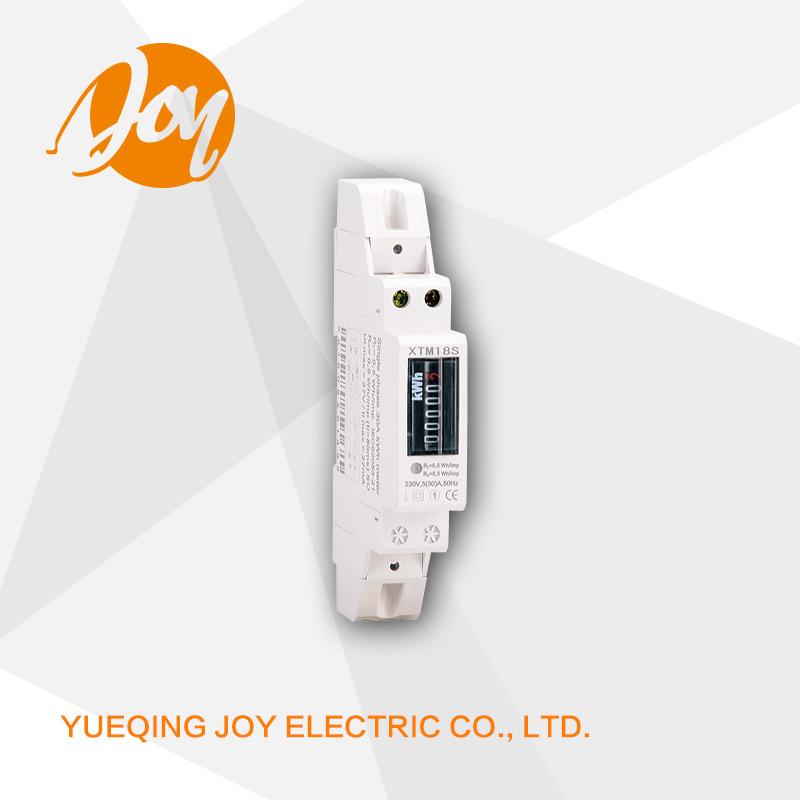 DIN-Rail Single Phase Register Counter Electronic Energy Meter Xtm