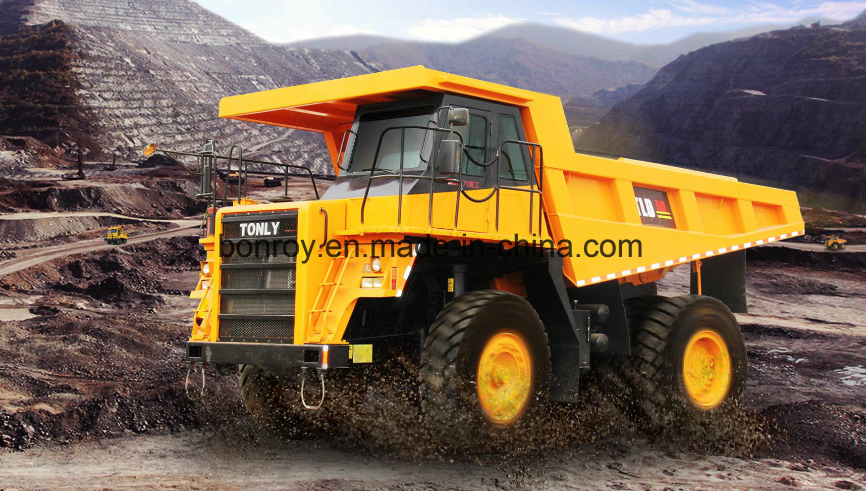 off-Road Cummins Engine Large-Scale 70t Mining Dump Truck