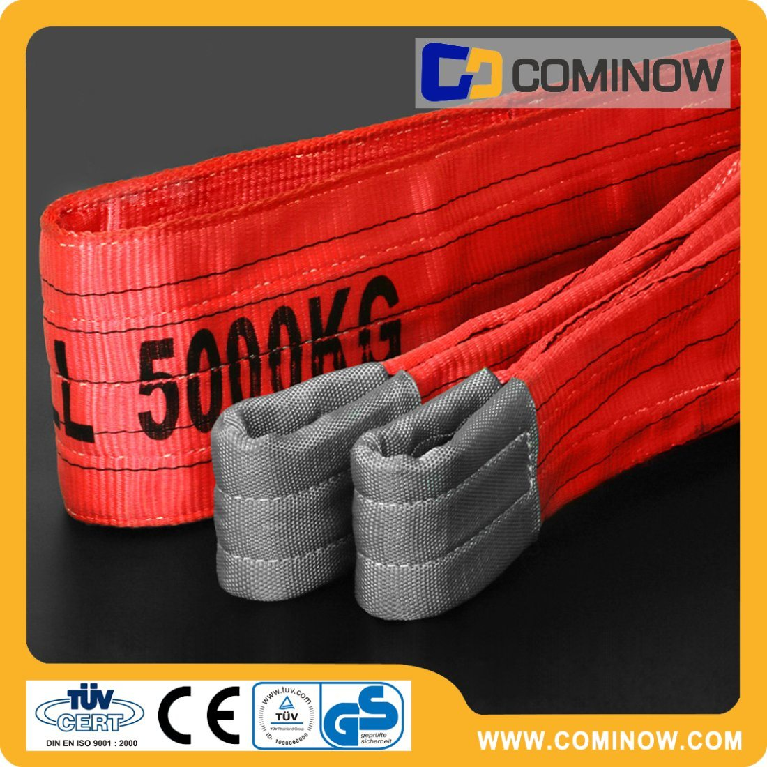5 Tonne Polyester Flat Webbing Sling with Lifting Eyes