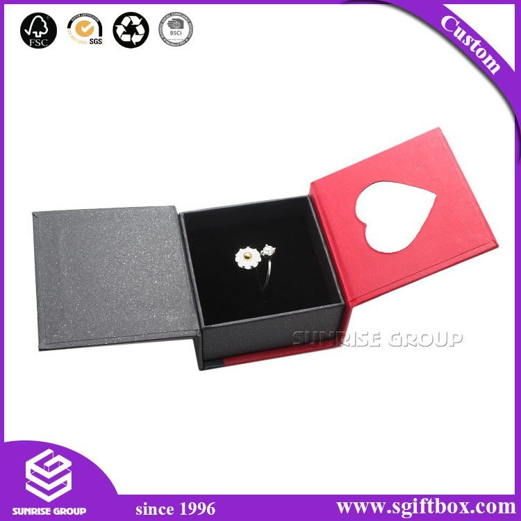 Heart Shape Handmade Rigid Cardboard Packaging Gift Jewelry Box