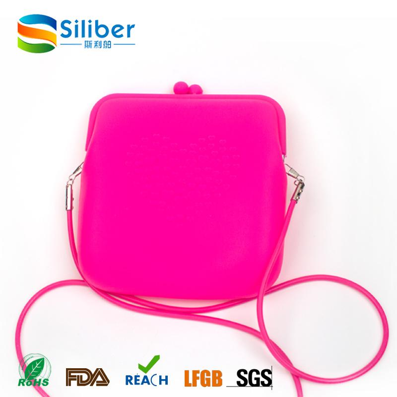 Square Shaped New Design Silicone Fashion Handbag for Ladies