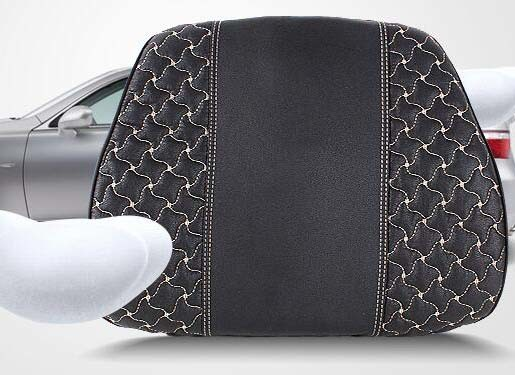Car Back Support Pillow Lumbar Cushion Windmill Pattern