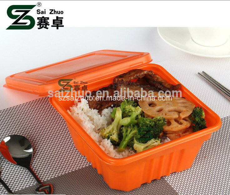 Hot Sale Square Single Compartment Plastic Lunch Box
