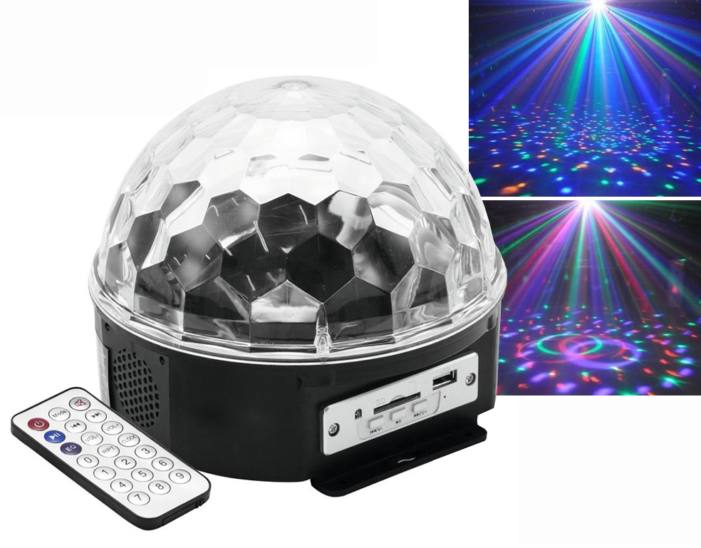 Manufacture LED Crystal Magic Ball Light MP3 Player Disco Magic Light with Bluetooth