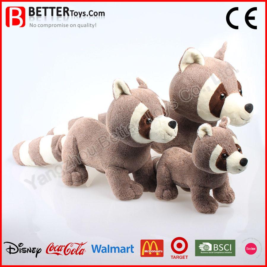 Lifelike Plush Toy Soft Stuffed Animals Raccoon for Baby Kids