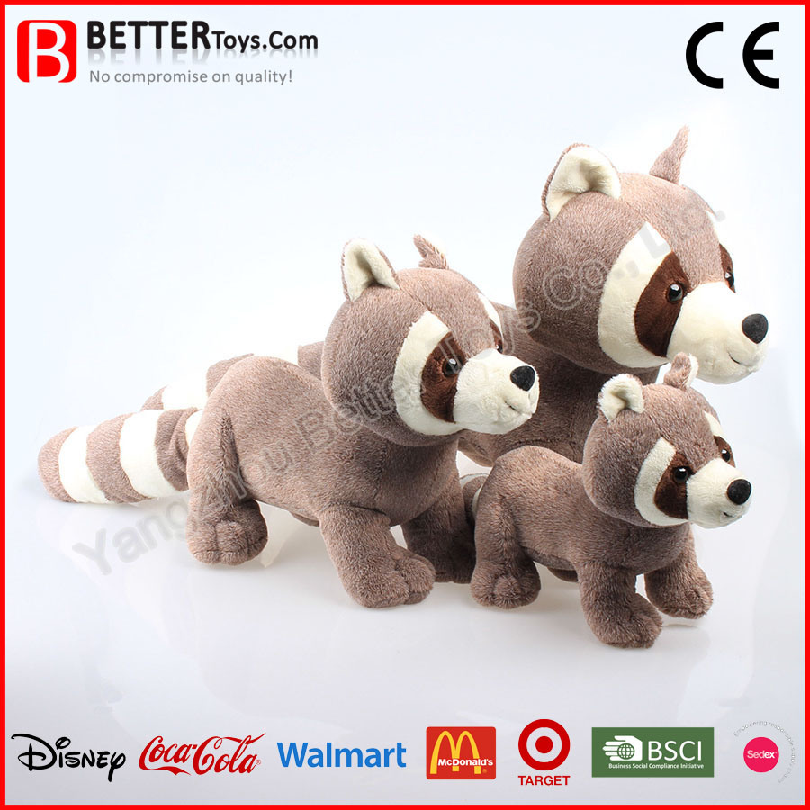 Stuffed Animals Plush Toy Soft Raccoon for Baby Kids Childen