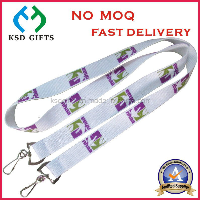 Wholesale Screen Printing Shoulder Lanyard with Double Swivel Hook