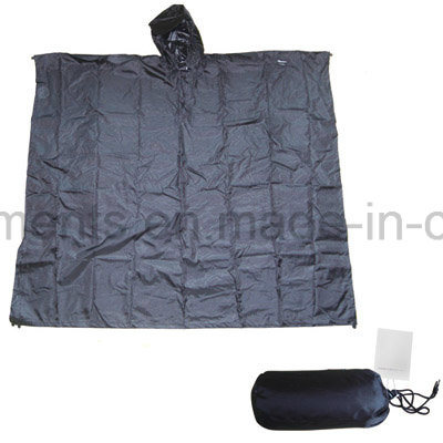 Outdoor Polyester Waterppro Rainwear Rain Poncho (RWA10)