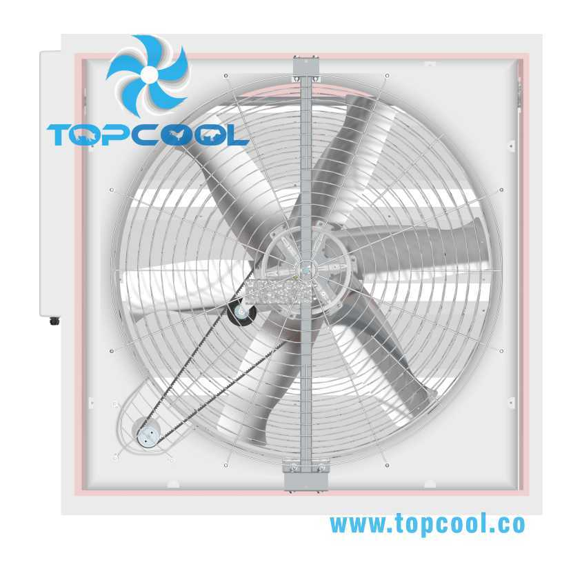 FRP 50 Inch Box Fan for Dairy Ventilation Solution and Industrial Use
