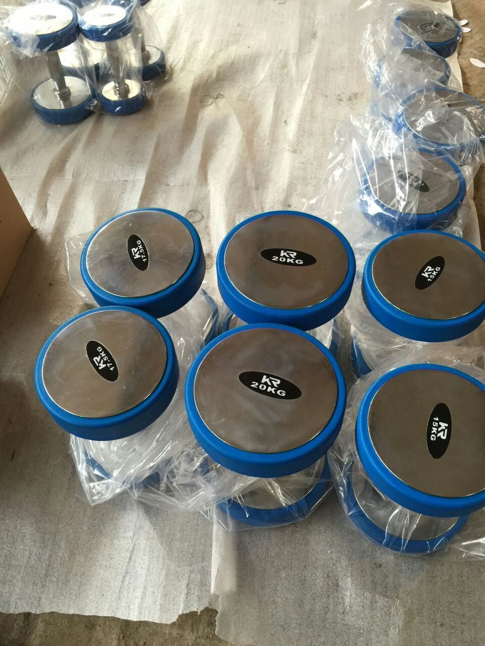 2017 Newest Rubber Coated Color Dumbbell (SA01-B)