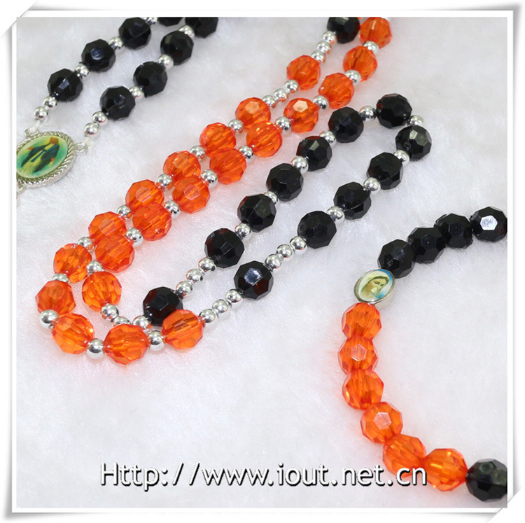 Wholesale Necklace Rosary by Whole Set Plastic Beads Rosary (IO-crs010)
