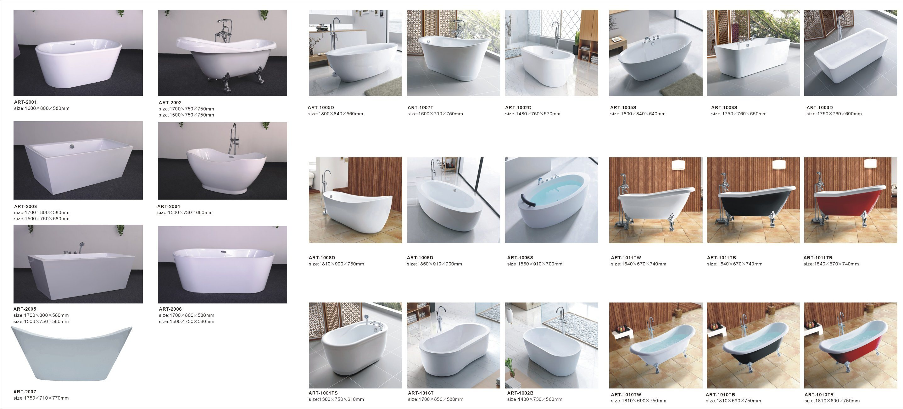 Factory Direct Sale ABS Rectangle Whirlpool Bathtub