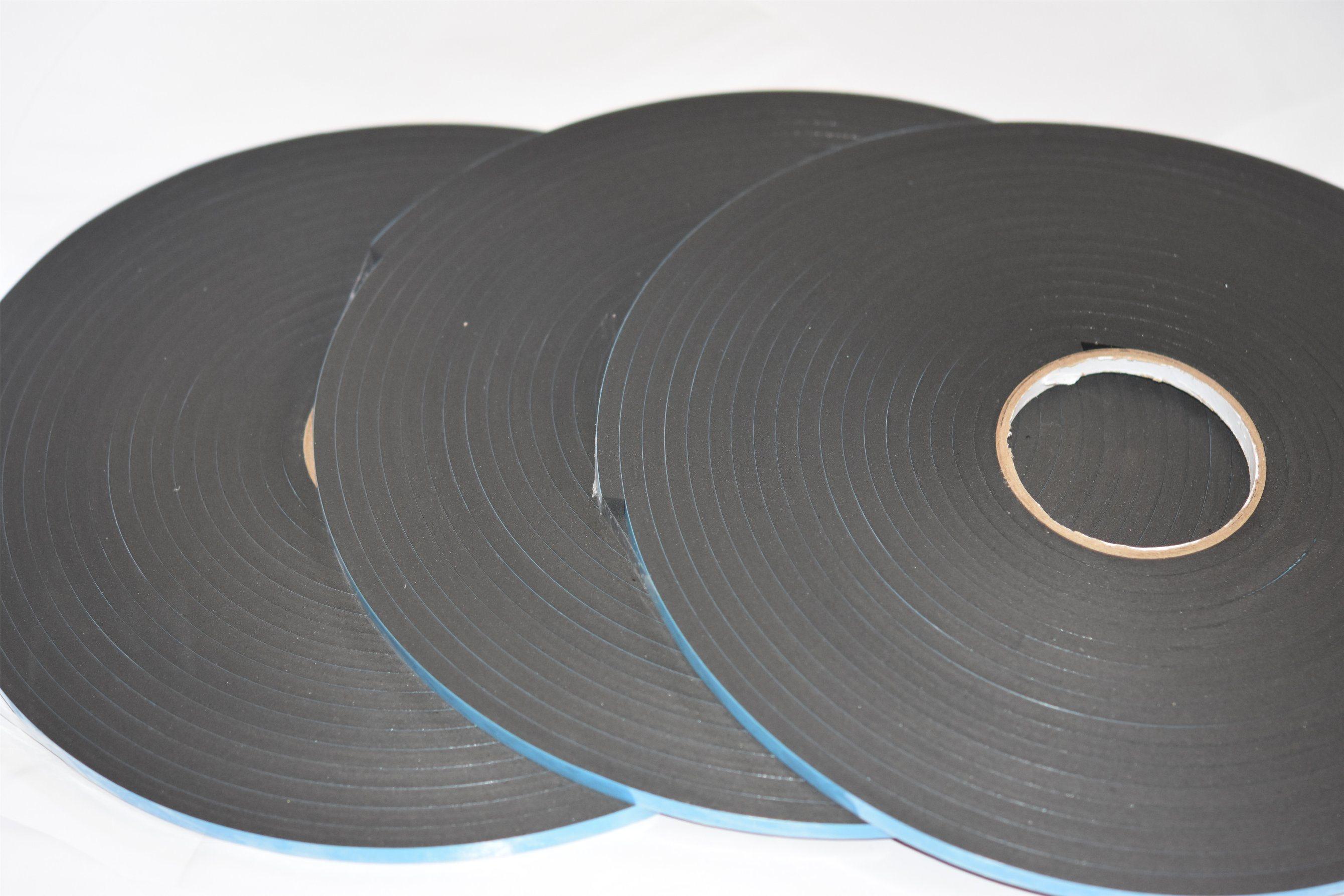 8mm Black Double Sided PVC Foam Tape Coating Acrylic Adhesive