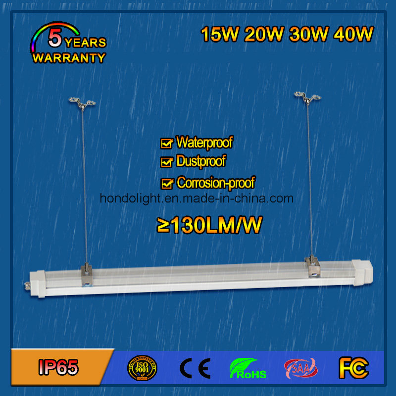 Ce&RoHS Approved 5 Years Warranty 20W LED Tri-Proof Light IP65
