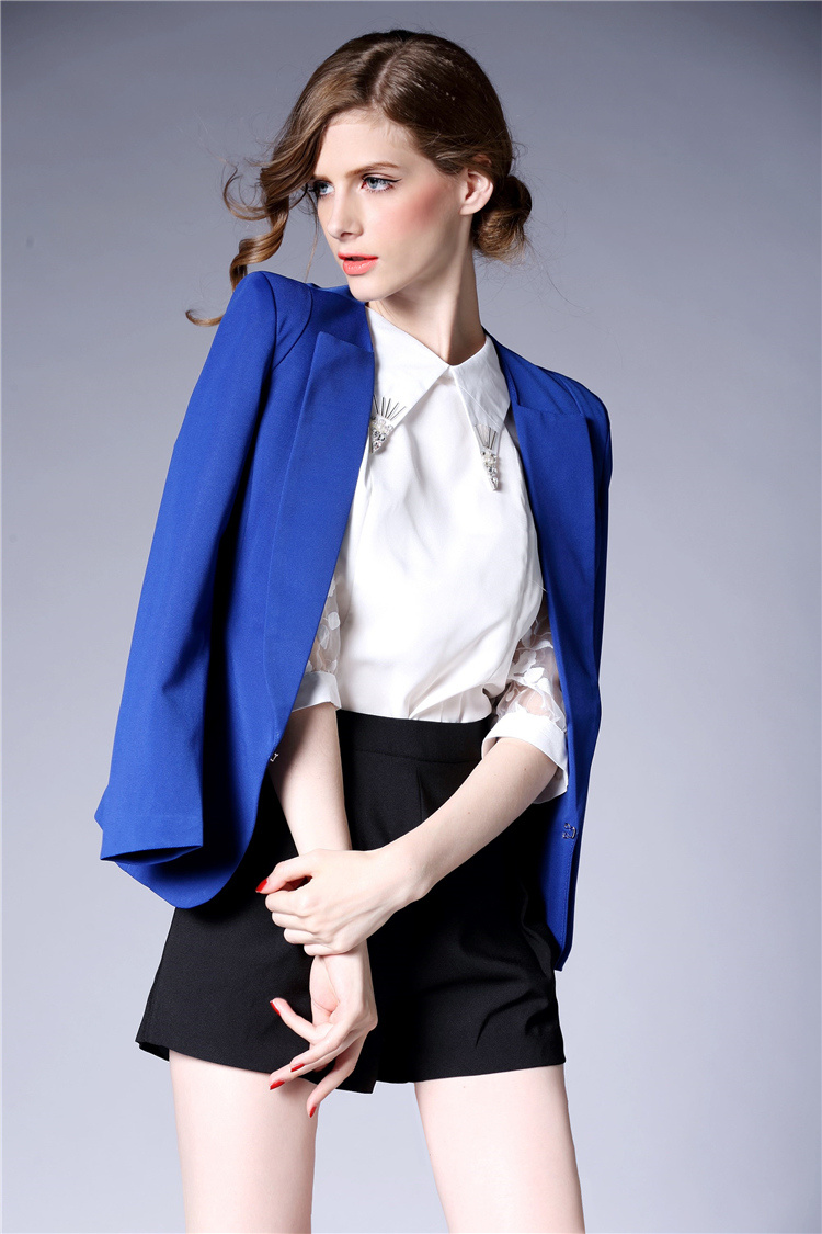 2016 Fashion Dress Formal Wear Women Blazer Short Blazer